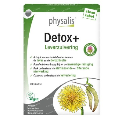 Detox + Physalis 30 tabletten