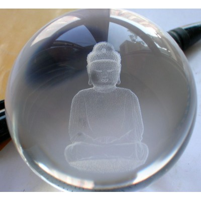 """Kristallen Boeddha bol 10 cm """"Geschenk van het 7de Levensstadium"""""""