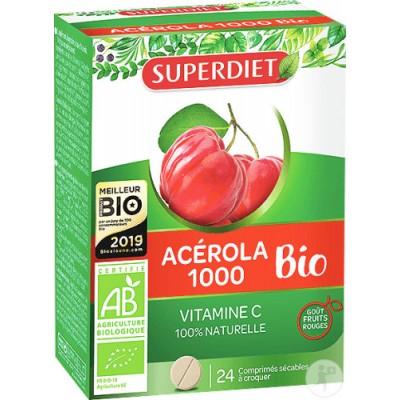 Super Diet Acerola 1000 Bio 24 Kauwabletten