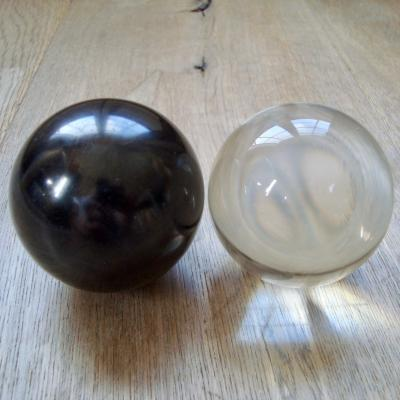 Aura Balans Ying Yang bollen 1 Shungiet 6cm + 1 ULE 6cm