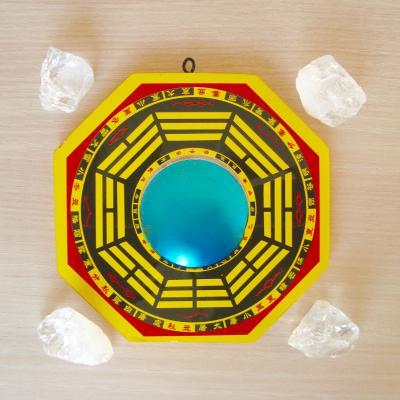 Bagua spiegel + 4 kristallen bescherming pakket