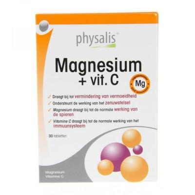 Magnesium + vitamine C Physalis 30 tabletten