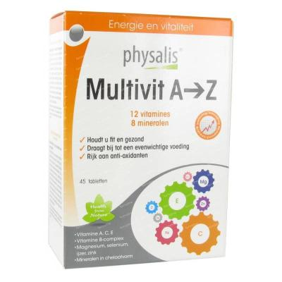 Multivitamine A-Z Physalis 45 tabletten