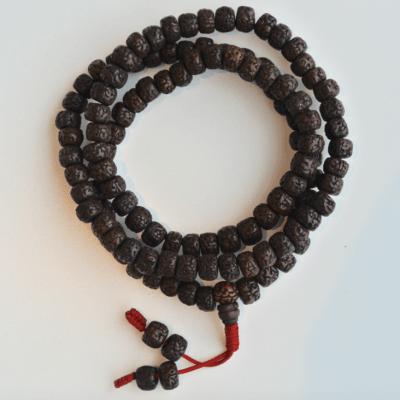 Mala Rudraksha Zwart 108 kralen
